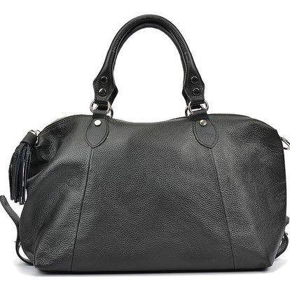Černá kožená kabelka Mangotti Leslie - doprava zdarma!