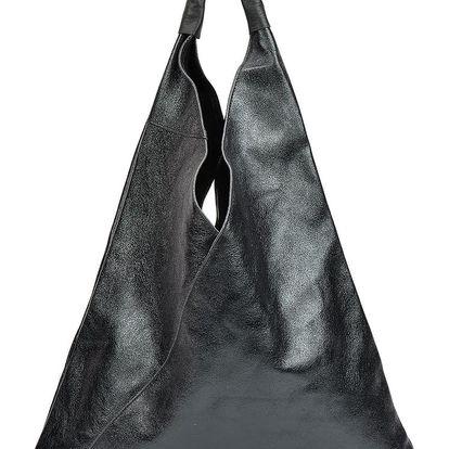 Černá kožená kabelka Isabella Rhea Arya - doprava zdarma!