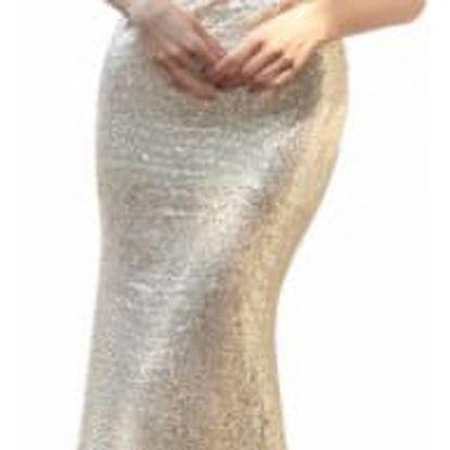 Elegantní dámské lesklé dlouhé šaty Grandie
