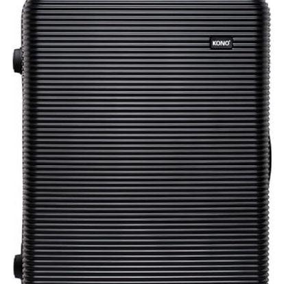 Dámský velký černý kufr na kolečkách Travel 6676