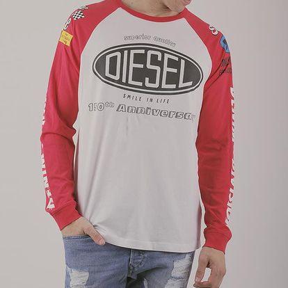 Tričko Diesel T-GEOS MAGLIETTA Bílá