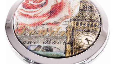 Kapesní kosmetické zrcátko Londýn a růže