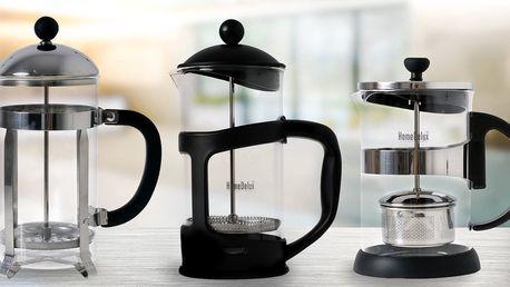 French pressy pro snadnou přípravu silné kávy