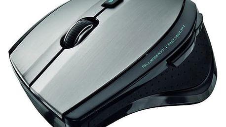 Myš Trust MaxTrack Wireless (17176) černá/stříbrná / optická / 6 tlačítek / 1000dpi