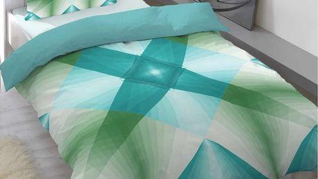 Saténové povlečení Air modrá, 140 x 200 cm, 70 x 90 cm
