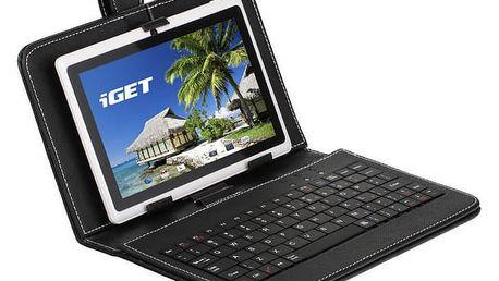 """Pouzdro na tablet s klávesnicí iGET F7B univerzal, 7"""" (F7B) černé"""