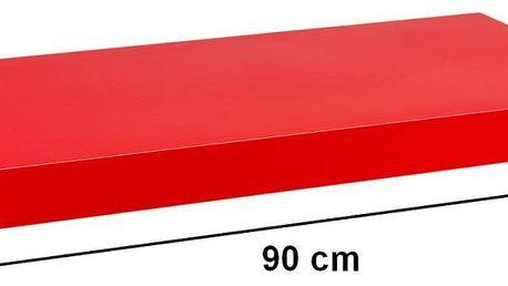 STILISTA VOLATO 31069 Nástěnná police - lesklá červená 90 cm