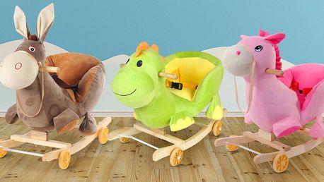 Veselá houpací zvířátka s funkcí odrážedla