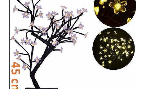 Nexos Trading GmbH & Co. KG 5978 Dekorativní LED osvětlení - strom s kvítky, teple bílé
