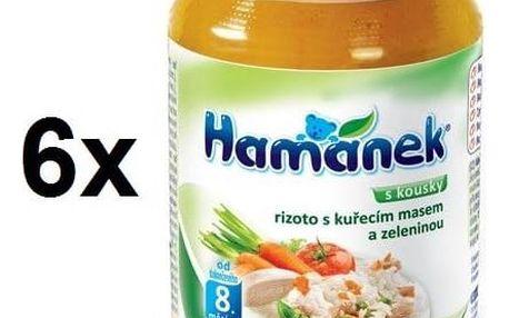 Příkrm Hamánek rizoto s kuřecím masem a zeleninou 6x230g