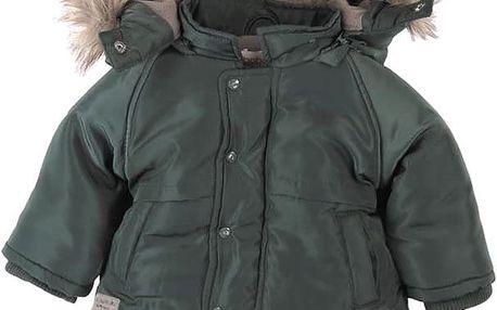 BOBOLI Zimní bunda s kožíškem, vel. 98 - khaki, kluk