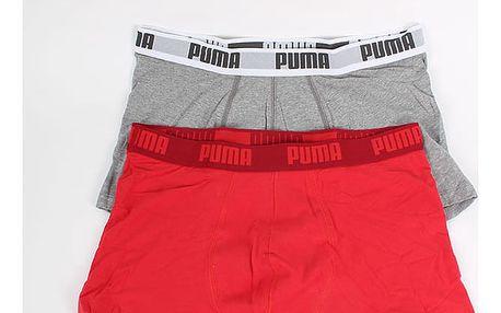 Boxerky Puma Basic Shortboxer 2 Pack red Barevná