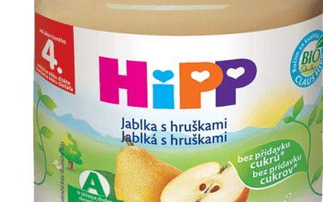 6x HIPP Jablka s hruškami (125 g) - ovocný příkrm
