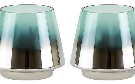 Sada 2 svícnů v zelenostříbrné barvě Villa Collection Gonna - doprava zdarma!
