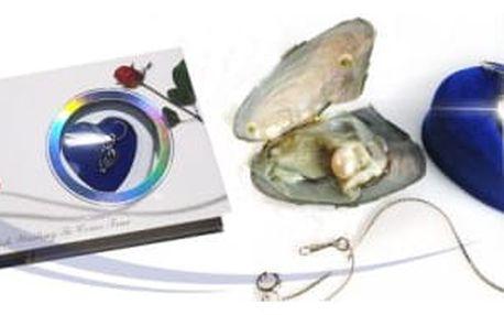 Perla přání s náhrdelníkem z perlorodky