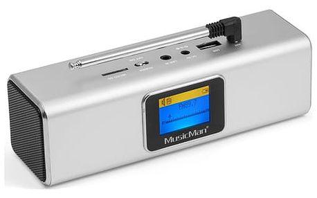 Radiopřijímač s DAB Technaxx BT-X29 a reproduktor MusicMan (4672) stříbrný