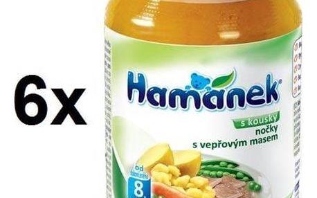 Příkrm Hamánek nočky s vepřovými kousky 6x230g