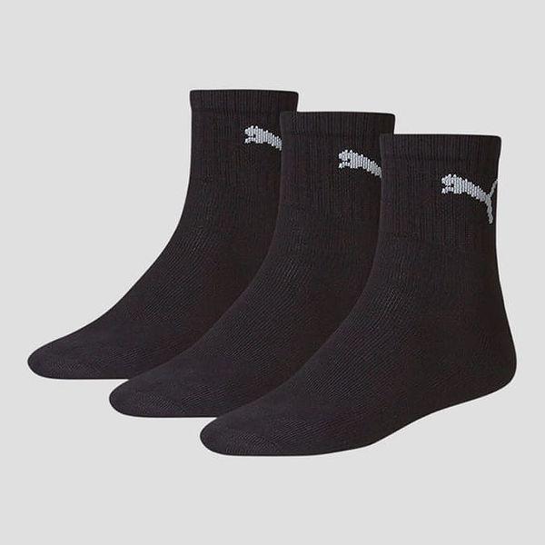 Ponožky Puma SHORT CREW 3 Pack UNISEX Černá