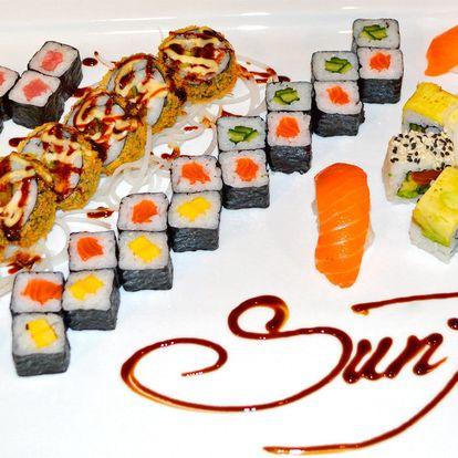 Sushi sety s 28 až 44 kousky v centru města