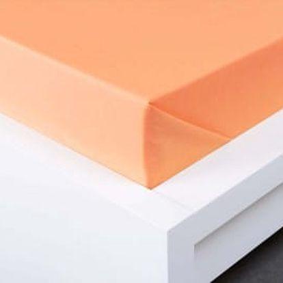 XPOSE ® Bavlněné prostěradlo - meruňková 140x225 cm