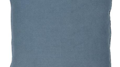 IB LAURSEN Lněný povlak na polštář Navy 50x50 cm, modrá barva, textil
