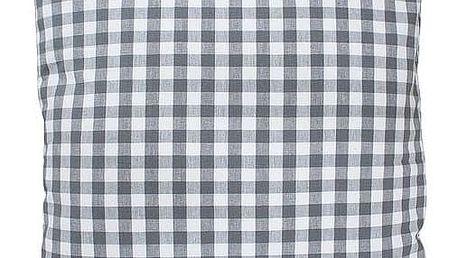 Krasilnikoff Povlak na polštář Charcoal checker 50x50, šedá barva, textil