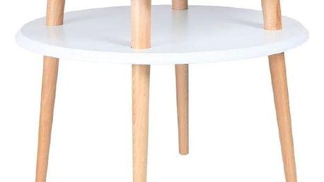 Bílý konferenční stolek Ragaba UFO,⌀57cm - doprava zdarma!