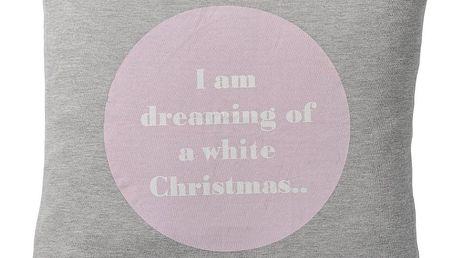 Bloomingville Polštář I Am Dreaming, růžová barva, šedá barva, textil