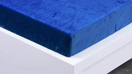 XPOSE ® Prostěradlo mikroflanel Exclusive dvojlůžko - tmavě modrá 180x200 cm