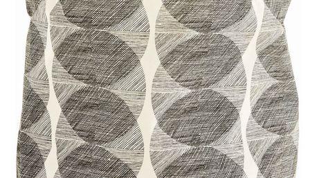 House Doctor Látkový box Circles, béžová barva, černá barva, textil