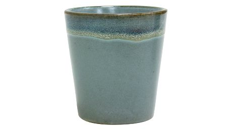 HK living Keramický hrneček bez ucha 70' Moss, modrá barva, zelená barva, keramika