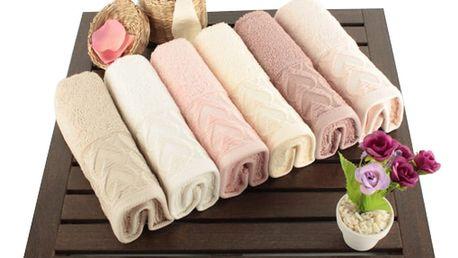 Sada 6 bavlněných ručníků Kalp,30x50cm - doprava zdarma!