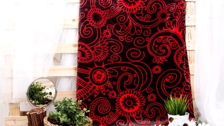 XPOSE ® Deka mikroflanel RUSLANA - červená 150x200 cm
