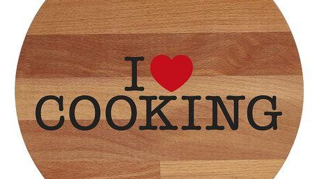 Prkénko z bukového dřeva Bisetti I Love Cooking, 30 cm - doprava zdarma!