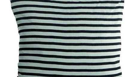 House Doctor Povlak na polštář Black stripes 50x50, černá barva, textil