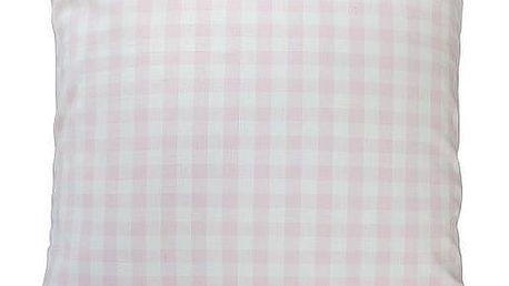 Krasilnikoff Povlak na polštář Pink checker 50x50, růžová barva, textil