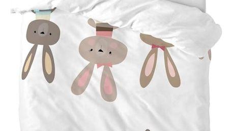 Povlečení Little W Maxicrib Little Rabbits, 115 x 145 cm - doprava zdarma!