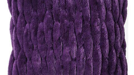 BO-MA Trading Povlak na polštářek chlupatý prošívaný fialová 45 x 45 cm