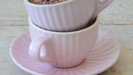 IB LAURSEN Šálek s podšálkem Mini English rose, růžová barva, keramika