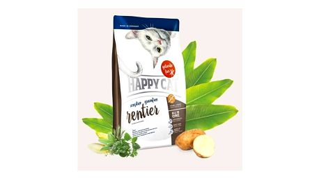 Granule HAPPY CAT SENSITIVE Grainfree Rentier - Sob 4 kg