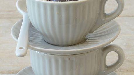 IB LAURSEN Šálek s podšálkem Mini Mynte latte, béžová barva, keramika