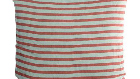 House Doctor Povlak na polštář Rust stripes 50x50, oranžová barva, textil