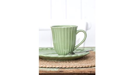 IB LAURSEN Hrnek Mynte Meadow green, zelená barva, keramika