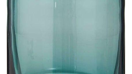 IB LAURSEN Skleněný svícen Turquois, modrá barva, sklo