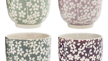 Bloomingville Keramický kalíšek Seeke Růžový, růžová barva, fialová barva, zelená barva, šedá barva, keramika