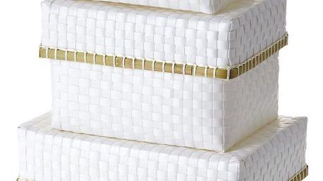 rice Plastová krabice s víkem White Velikost S, bílá barva, plast