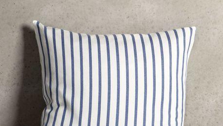 Tine K Home Povlak na polštář Azul Stripe 50x50 cm, modrá barva, bílá barva, textil