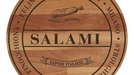 Prkénko z bukového dřeva Bisetti Broad Salami,30cm - doprava zdarma!
