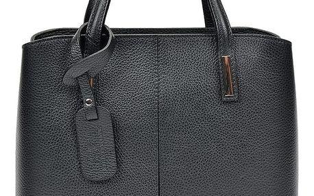 Černá kožená kabelka Sofia Cardoni Lacy - doprava zdarma!