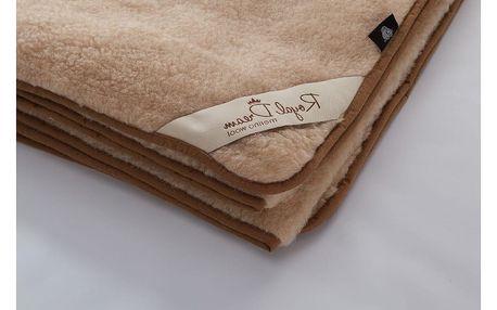 Hnědá deka z merino vlny Royal Dream,90x200cm - doprava zdarma!